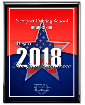 Newport Driving School, Press Release 2018 San Juan Capistrano